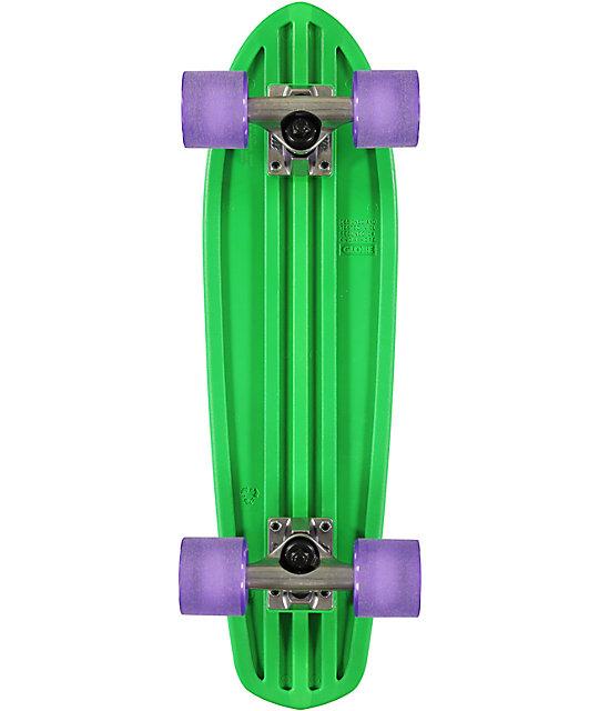 "Globe Bantam 24""  Clear Green Cruiser Complete Skateboard"