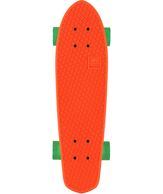 "Globe Bantam 24""  Clear Orange Cruiser Complete Skateboard"