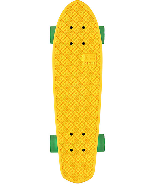 "Globe Bantam 24""  Clear Yellow Cruiser Complete Skateboard"