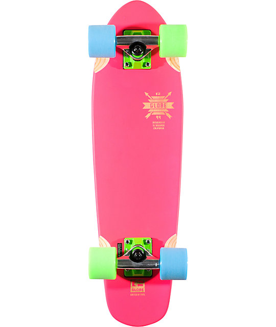 "Globe Blazing Pink Blazer 26""  Complete Cruiser Skateboard"