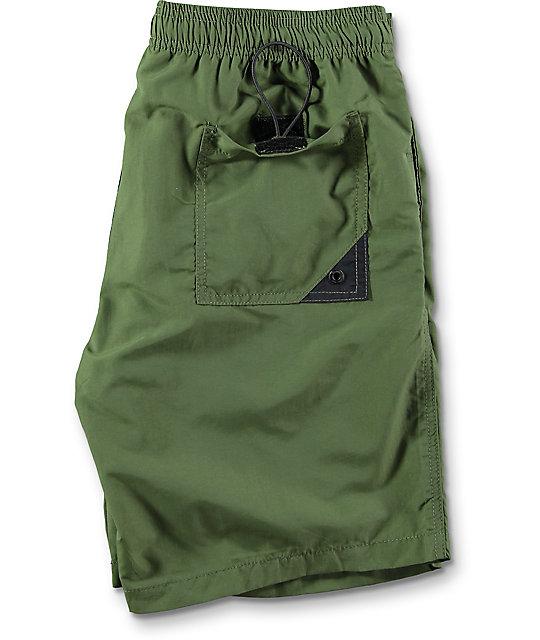 Globe Dana Elastic Waist Olive Board Shorts