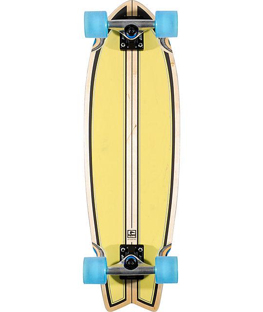 """Globe Dart 30""""  Lime Punch Cruiser Complete Skateboard"""