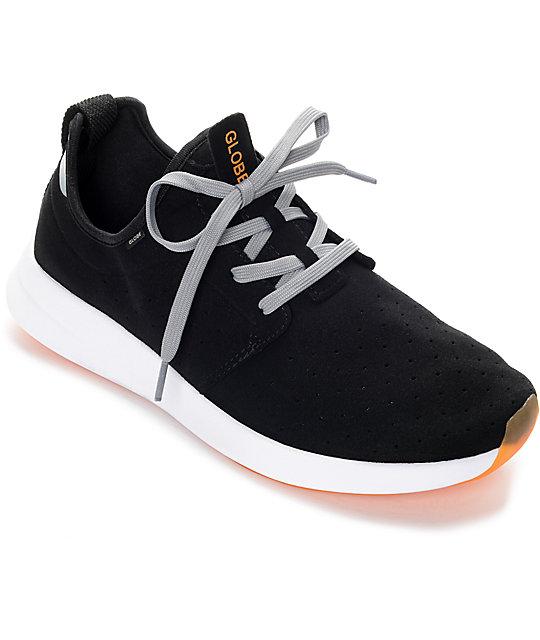 Globe Dart Lyt Black, Grey & Orange Shoes