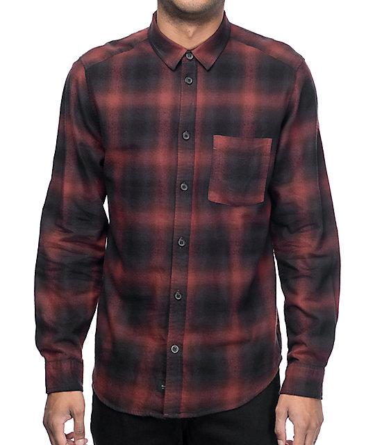 Globe Exchange Red & Black Flannel Shirt
