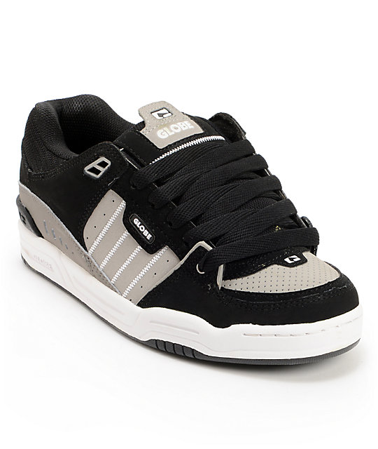 Globe Fusion Black & Grey Skate Shoes