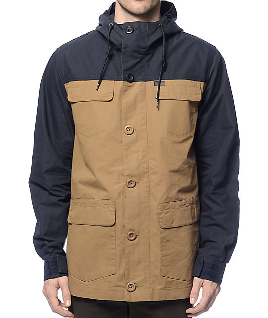 Globe Goodstock Khaki & Navy Parka Jacket at Zumiez : PDP