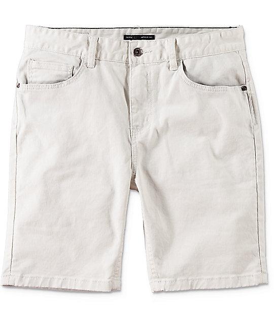 Goodstock Off White Denim Shorts