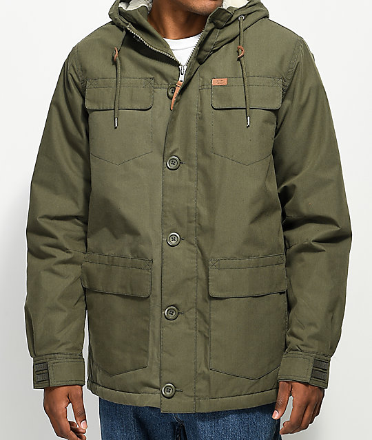 Globe Goodstock Thermal Olive Green Parka Jacket | Zumiez
