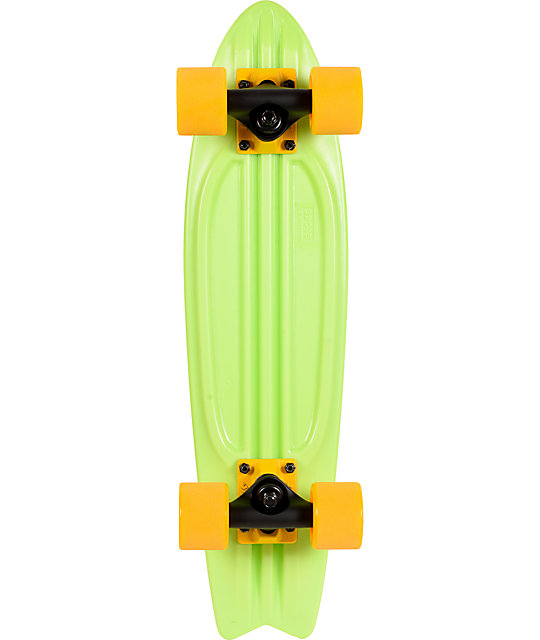 """Globe Lime Green Bantam 24""""  Complete Cruiser Skateboard"""