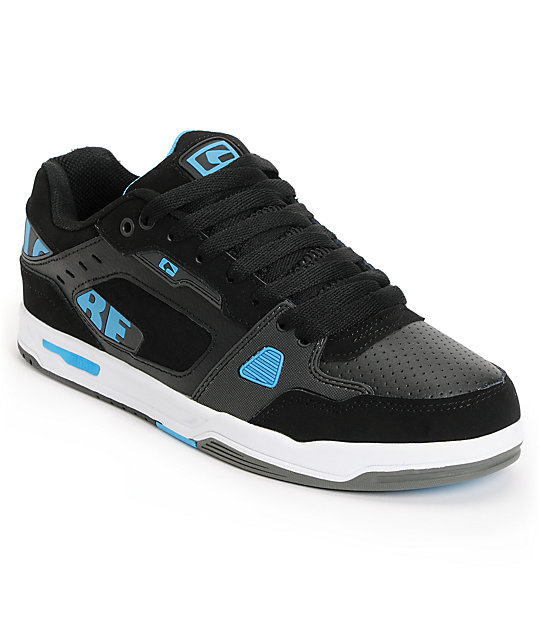 Globe Lock Black & Cyan Blue Skate Shoes