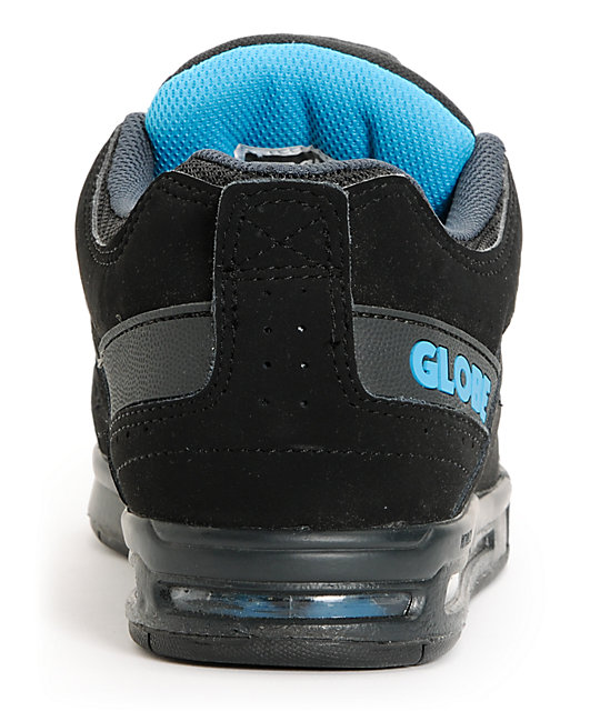 Globe Option Black & Hawaiian Blue Skate Shoes