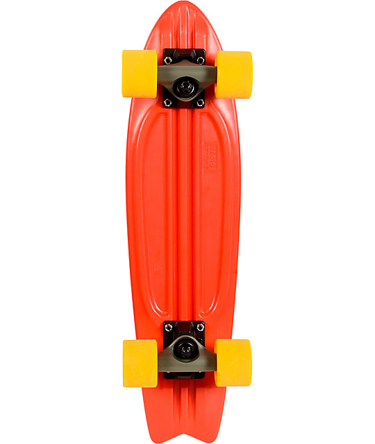"Globe Red & Yellow Bantam 24""  Complete Cruiser Skateboard"