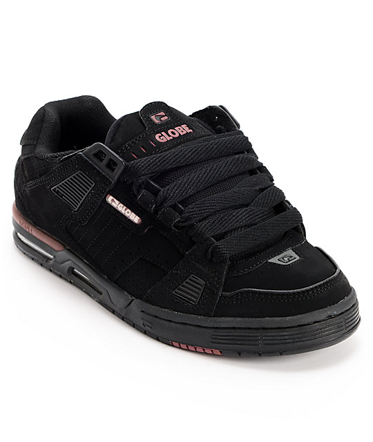 Globe Sabre Black, Charcoal & Ox Blood Skate Shoes