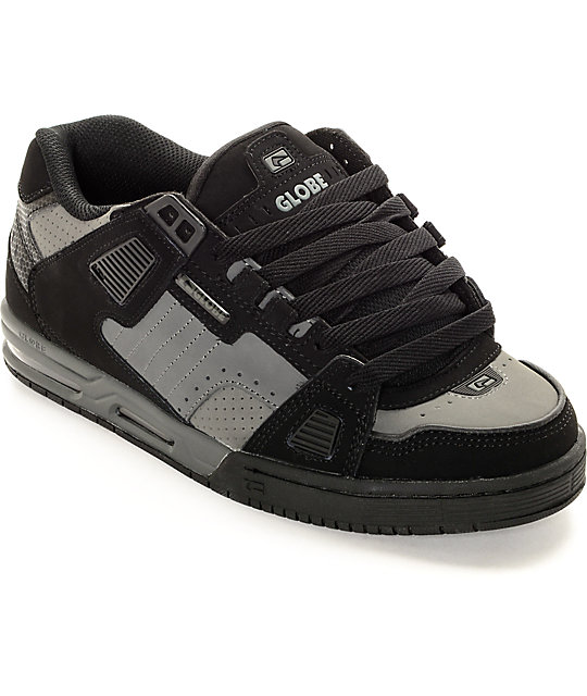 Globe Sabre Black & Gunmetal Grey Skate Shoes