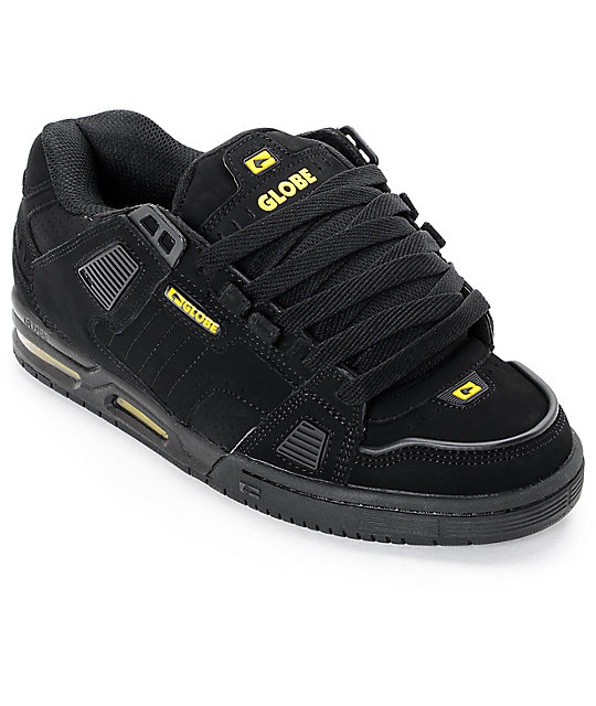Globe Sabre Black & Yellow Skate Shoes