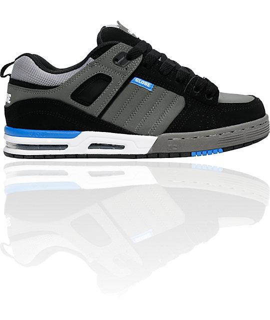 Globe Shoes Advance Black, Charcoal & Blue Skate Shoes