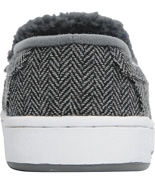 Globe Shoes Castro Black, Grey, & White Tweed Slippers