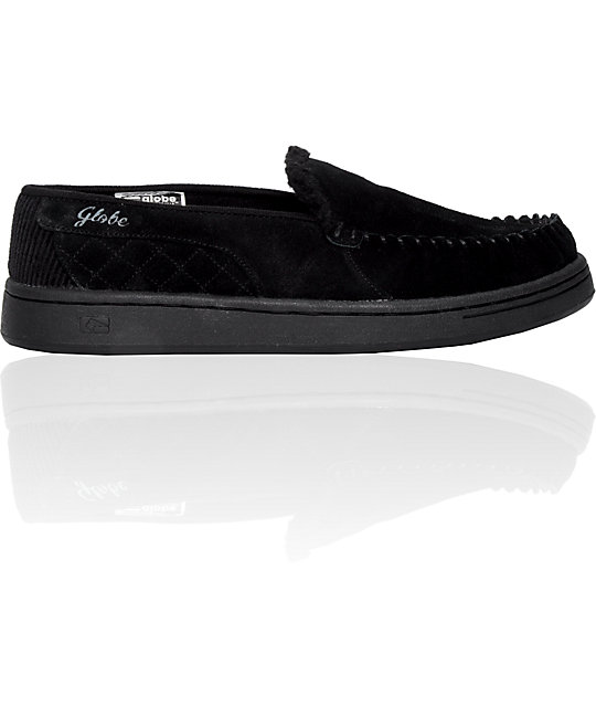 Globe Shoes Castro Black Suede Slippers