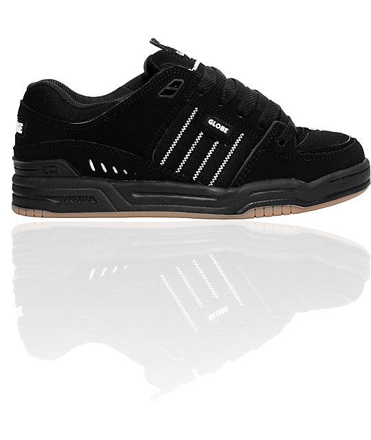 Globe Shoes Fusion Black & Gum Skate Shoes