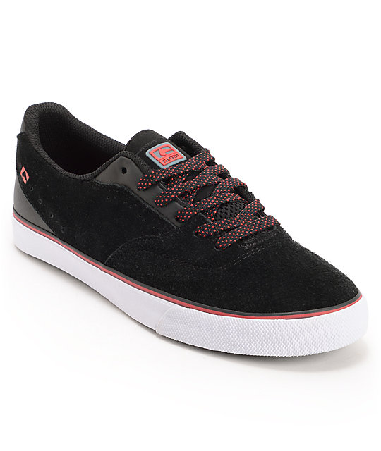 Globe Shoes Sabbath David Gonzalez Black & Red Skate Shoes