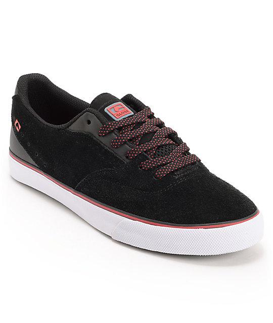 Globe Shoes Sabbath David Gonzalez Black & Red Skate Shoes