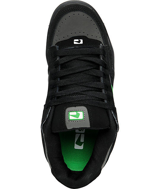 Globe Shoes Scribe Black, Charcoal & Green Skate Shoes