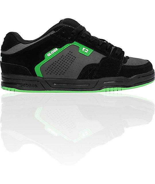 Globe Shoes Scribe Black, Charcoal & Green Skate Shoes