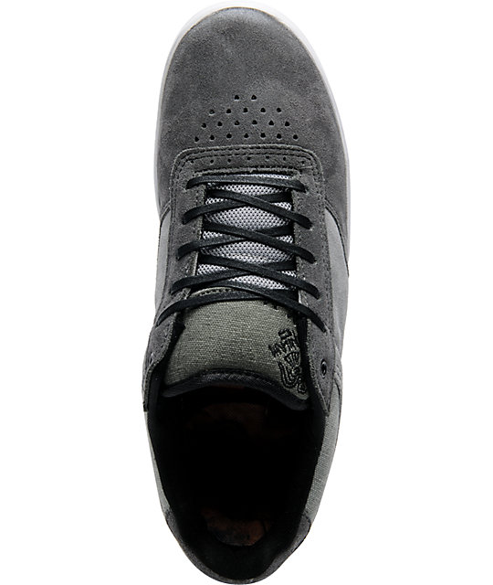 Globe Shoes The Odin Charcoal & Grey Suede Skate Shoes