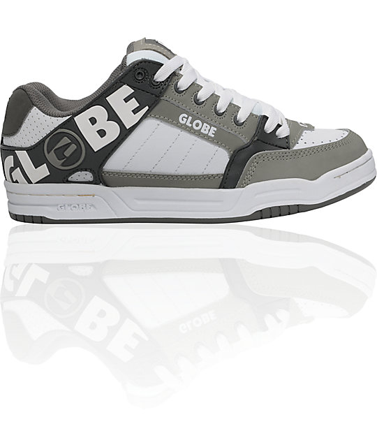 Globe Shoes Tilt Gunmetal, Grey & White Skate Shoes