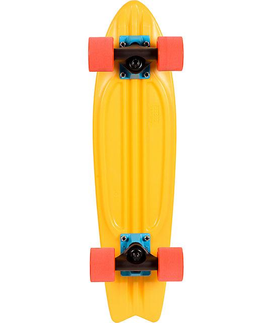 """Globe Sun Yellow Bantam 24""""  Complete Cruiser Skateboard"""