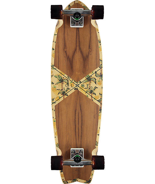"Globe Teak Pineapple Chromantic 9.25""  Cruise Complete Skateboard"