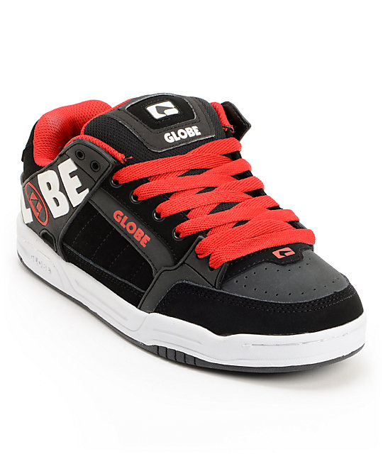 Globe Tilt Black, Night & Red Skate Shoes