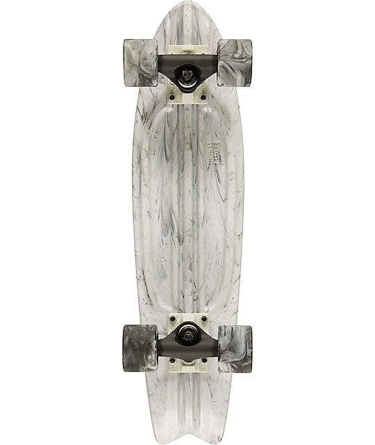 """Globe White & Black Swirl Bantam 24""""  Complete Cruiser Skateboard"""