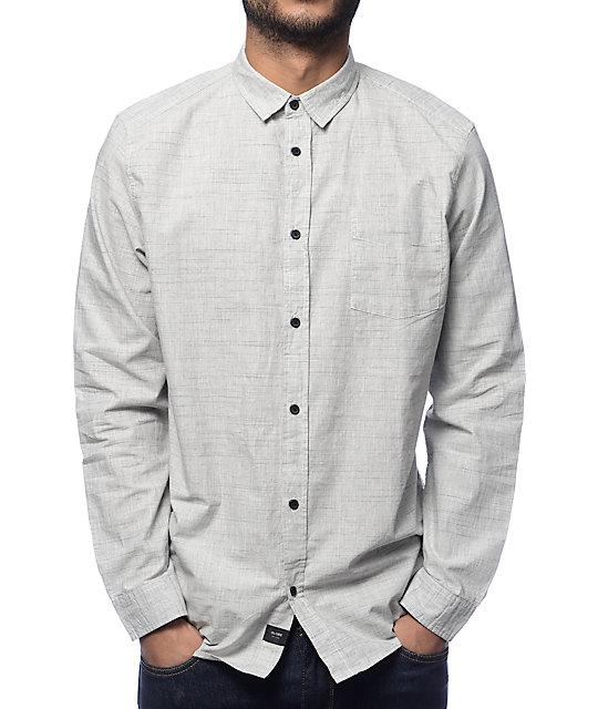 Woods Grey Long Sleeve Button Up Shirt