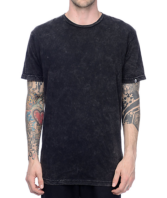 Gnarly Acid Wash Black T-Shirt | Zumiez