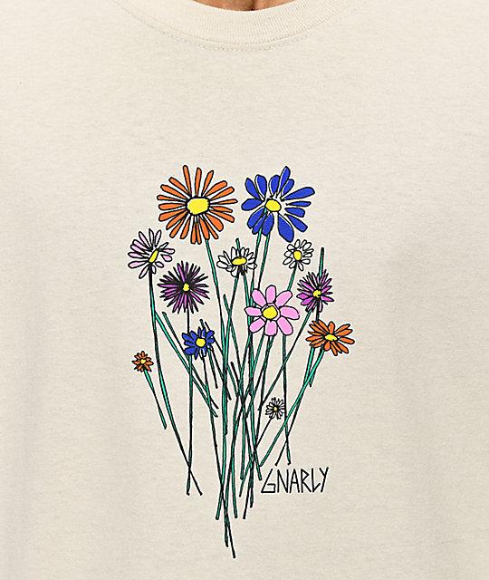 Long Sleeve Bouquet shirt Gnarly Sand T 3j4LqARc5