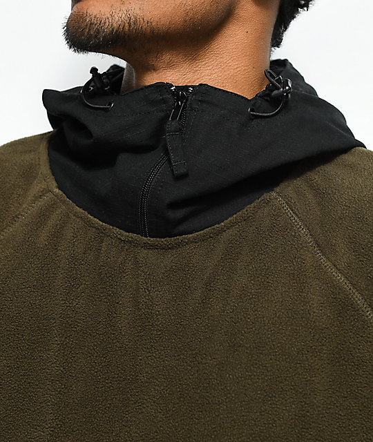 Gnarly Polar Olive & Black Hoodie