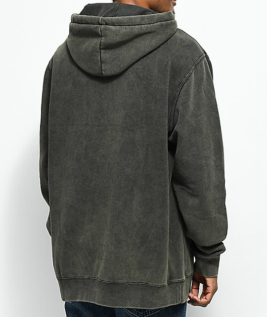 Gnarly Premium Black Washed Hoodie