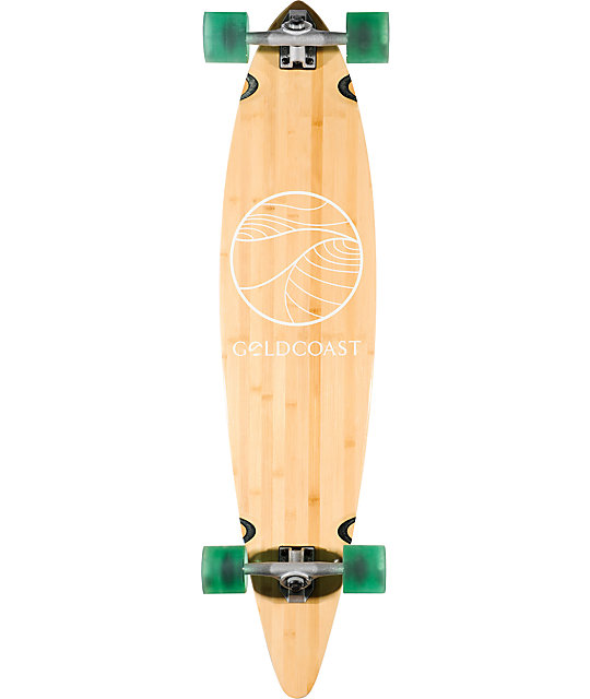"Gold Coast Classic Bamboo 44""  Pintail Longboard Complete"