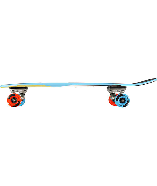 "Gold Coast Pier Blue 7.5""  Mini Cruiser Complete Skateboard"