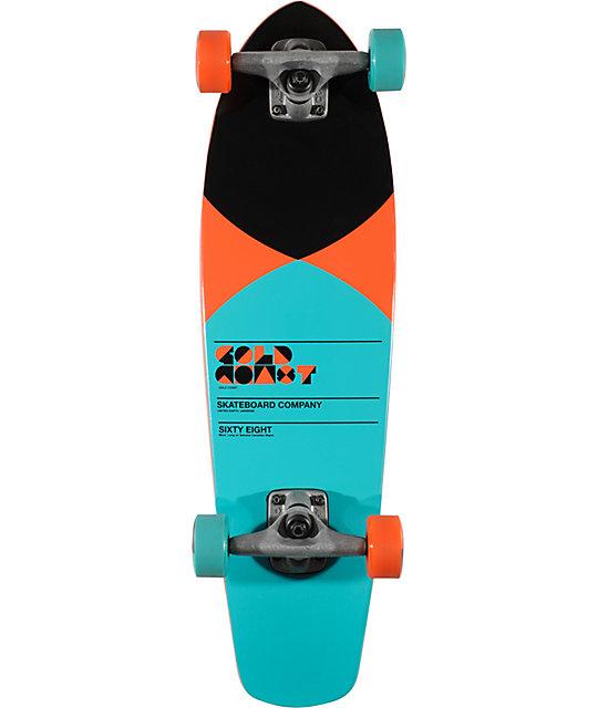 "Gold Coast Pier Turquoise 27""  Shovel Mini Cruiser Skateboard"