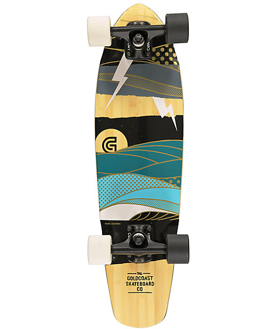 "Gold Coast The Salvo 27""  Cruiser Complete Skateboard"