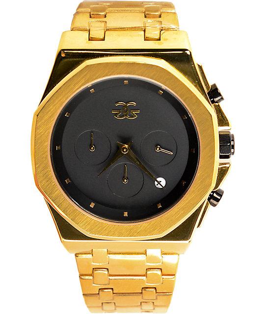 Gold gods octavious chrono gold watch at zumiez pdp for Watches zumiez