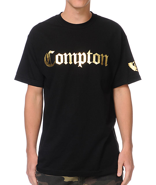 Gold Wheels Compton Black & Gold T-Shirt at Zumiez : PDP