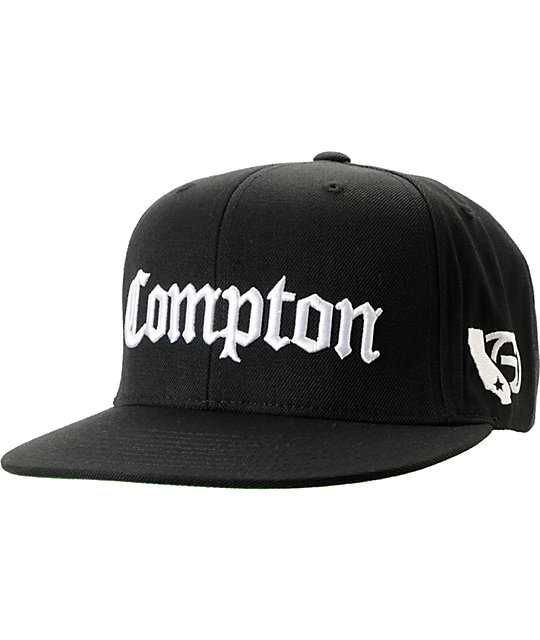Gold Wheels Compton Black Starter Snapback Hat