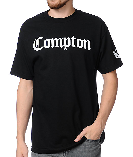 Gold Wheels Compton Black T-Shirt