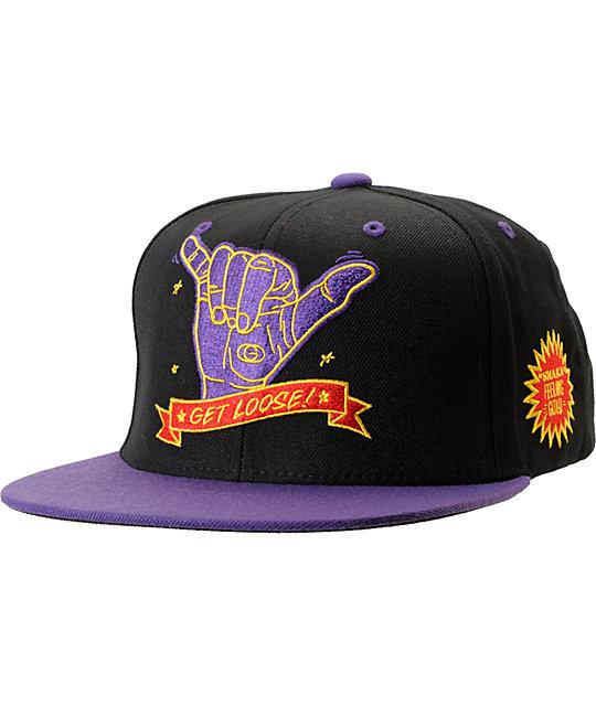 Gold Wheels Get Loose Black Snapback Hat