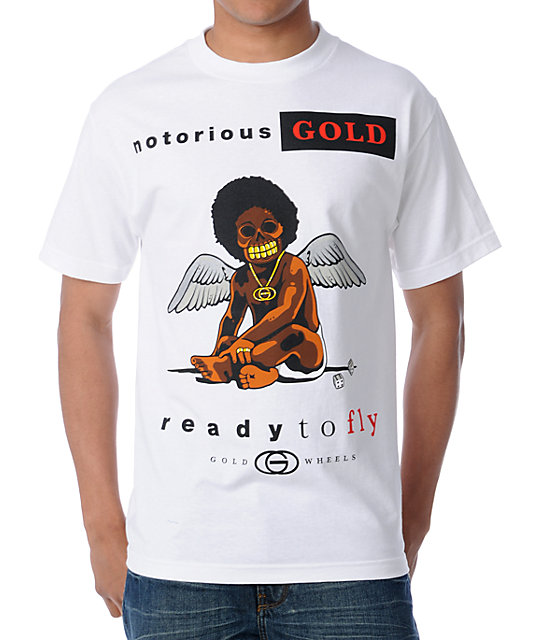 Gold Wheels Ready To Fly White T-Shirt