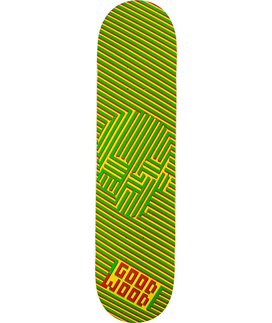 "Goodwood Dizzy Skull Rasta 7.75""  Skateboard Deck"