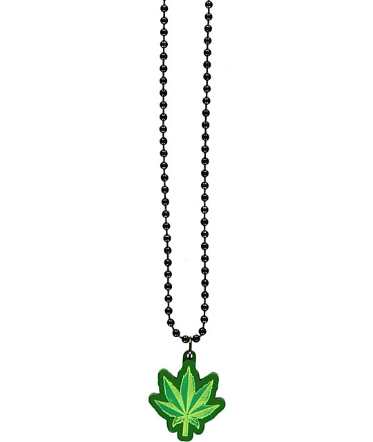 Goodwood NYC Micro Green Leaf Necklace